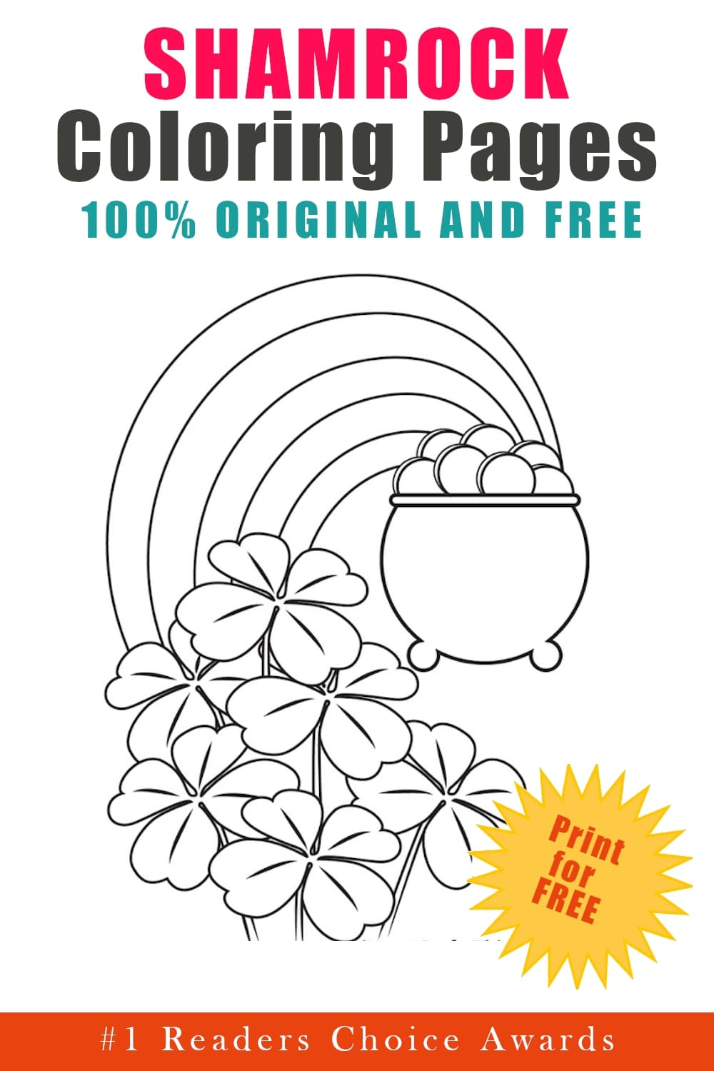 original and free shamrock coloring pages