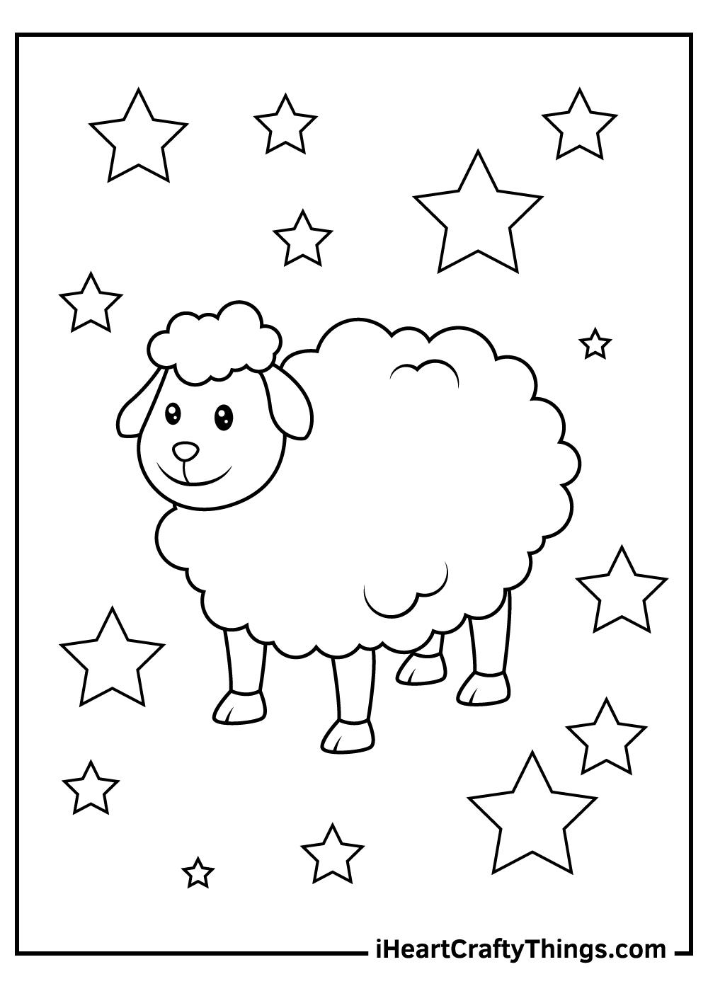 baa baa black sheep coloring pages