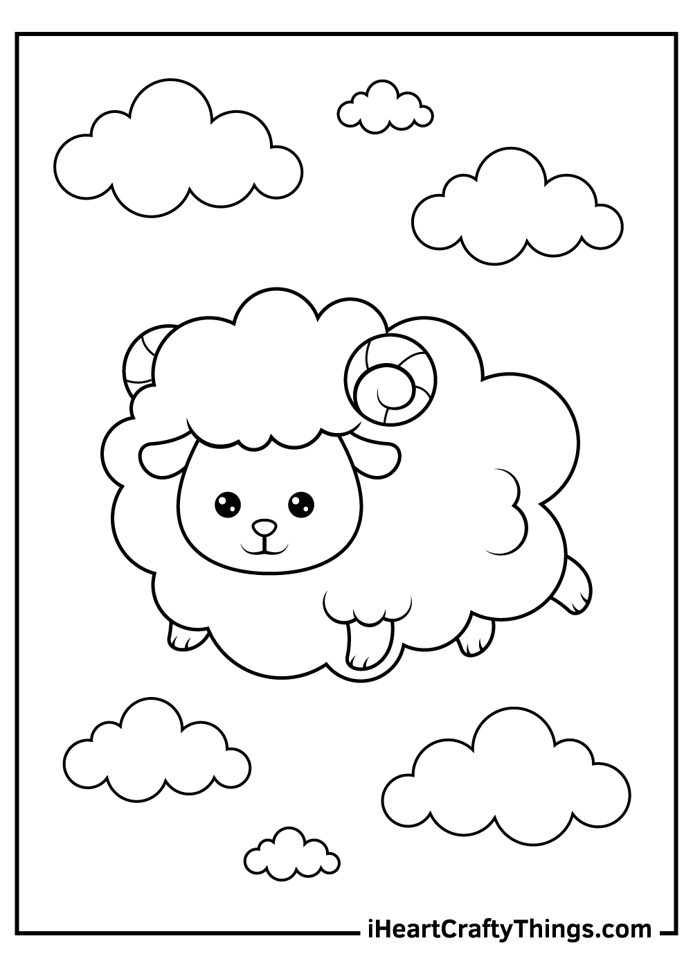 cute sheep coloring pages printable