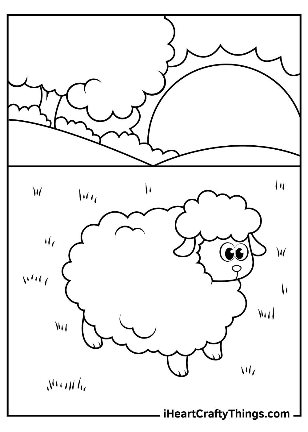 free sheep coloring pages for kids