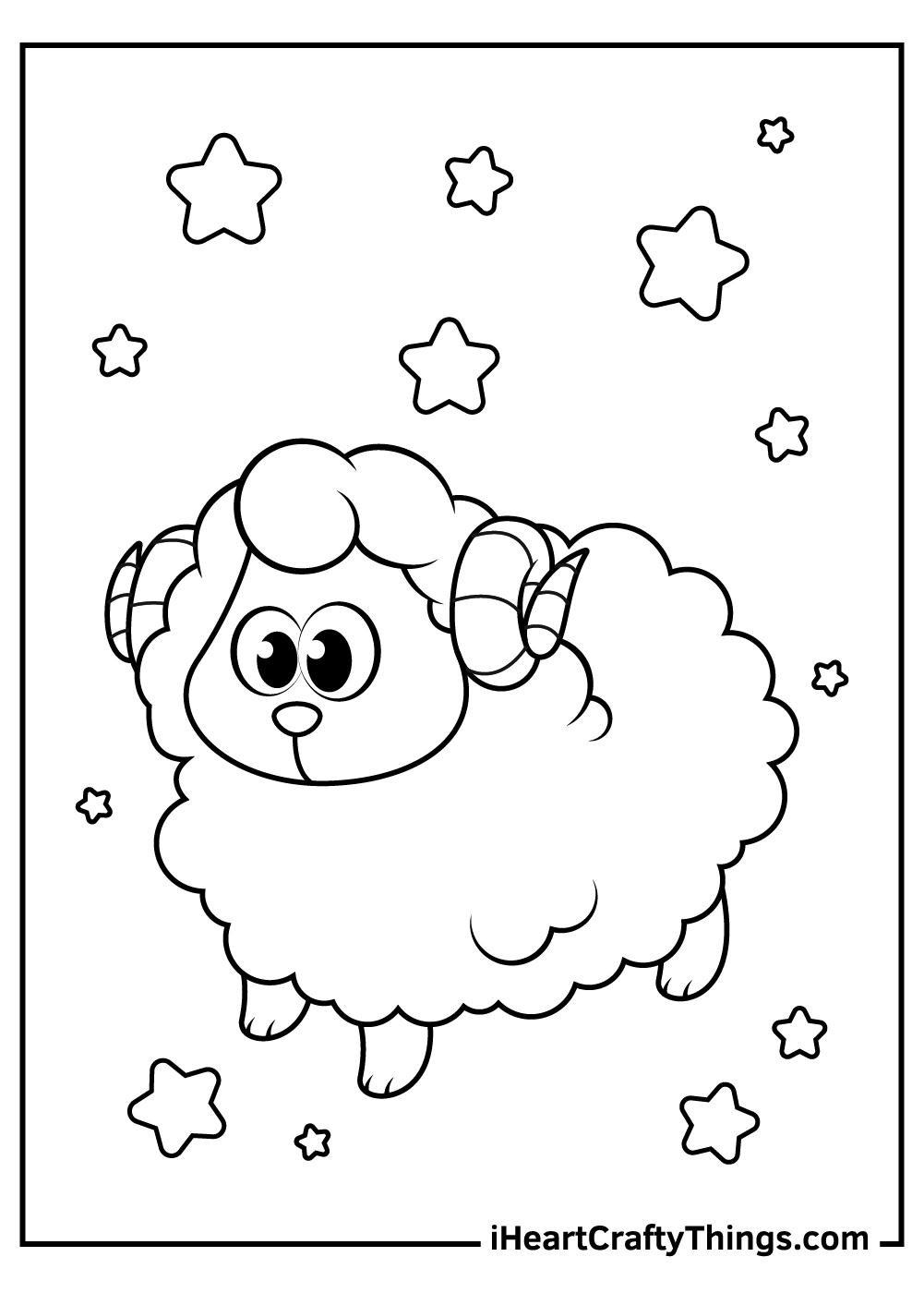 lamb sheep coloring pages pdf to print