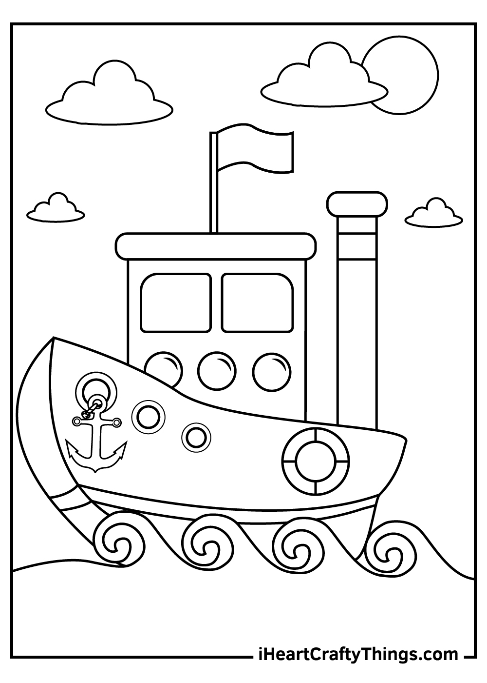 the letter b is for boats coloring pages for toddlers