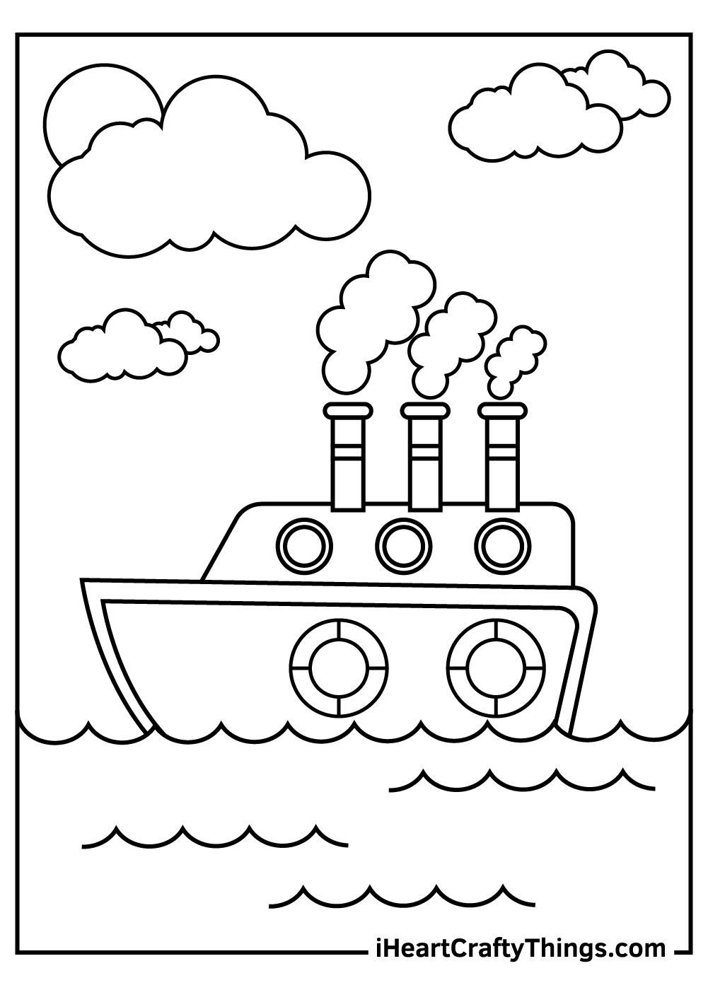 big ships and boats coloring pages for kids