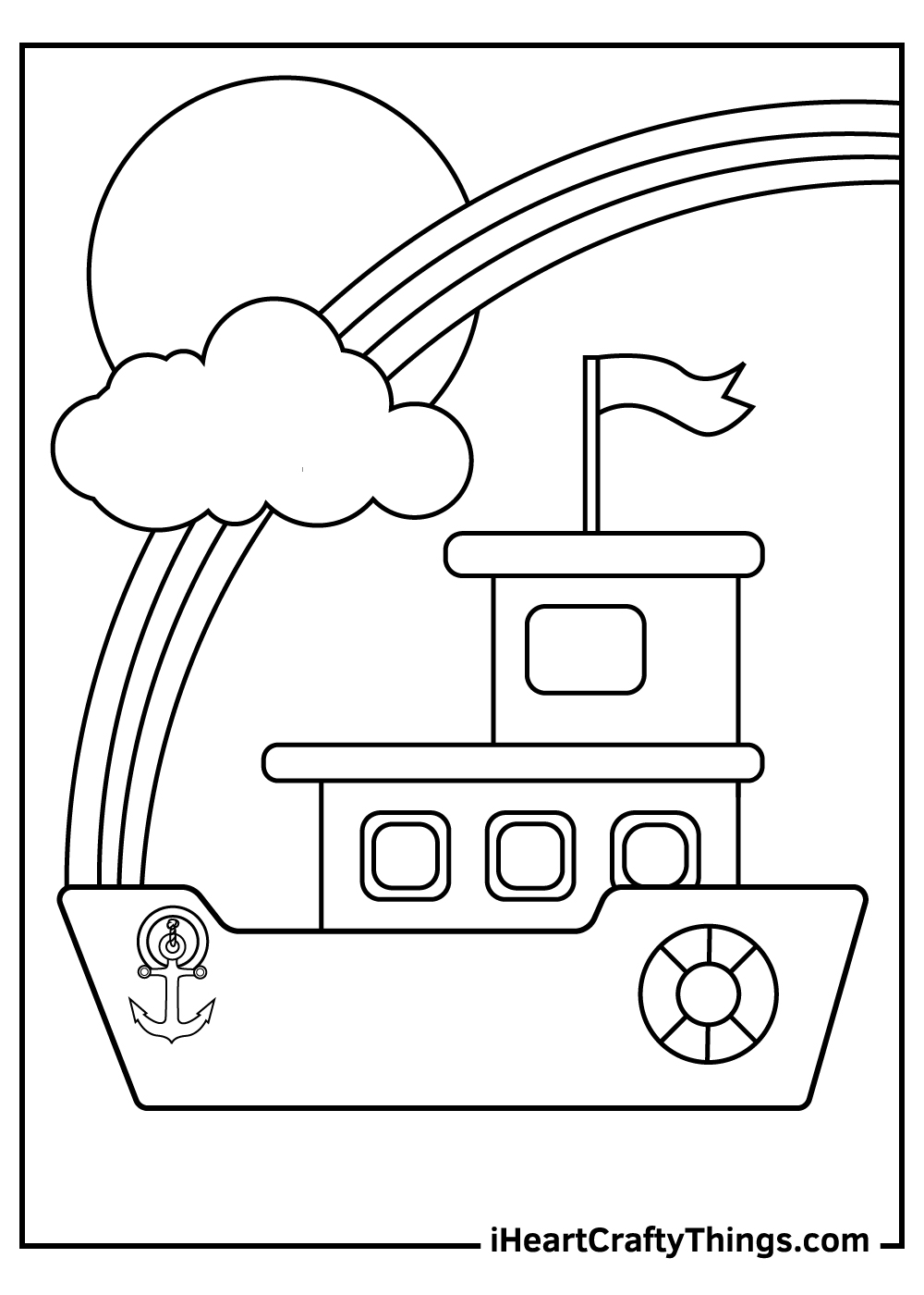 big boats coloring pages free printables
