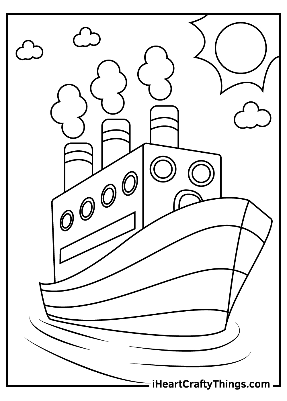 toy ships and boats coloring pages free printables