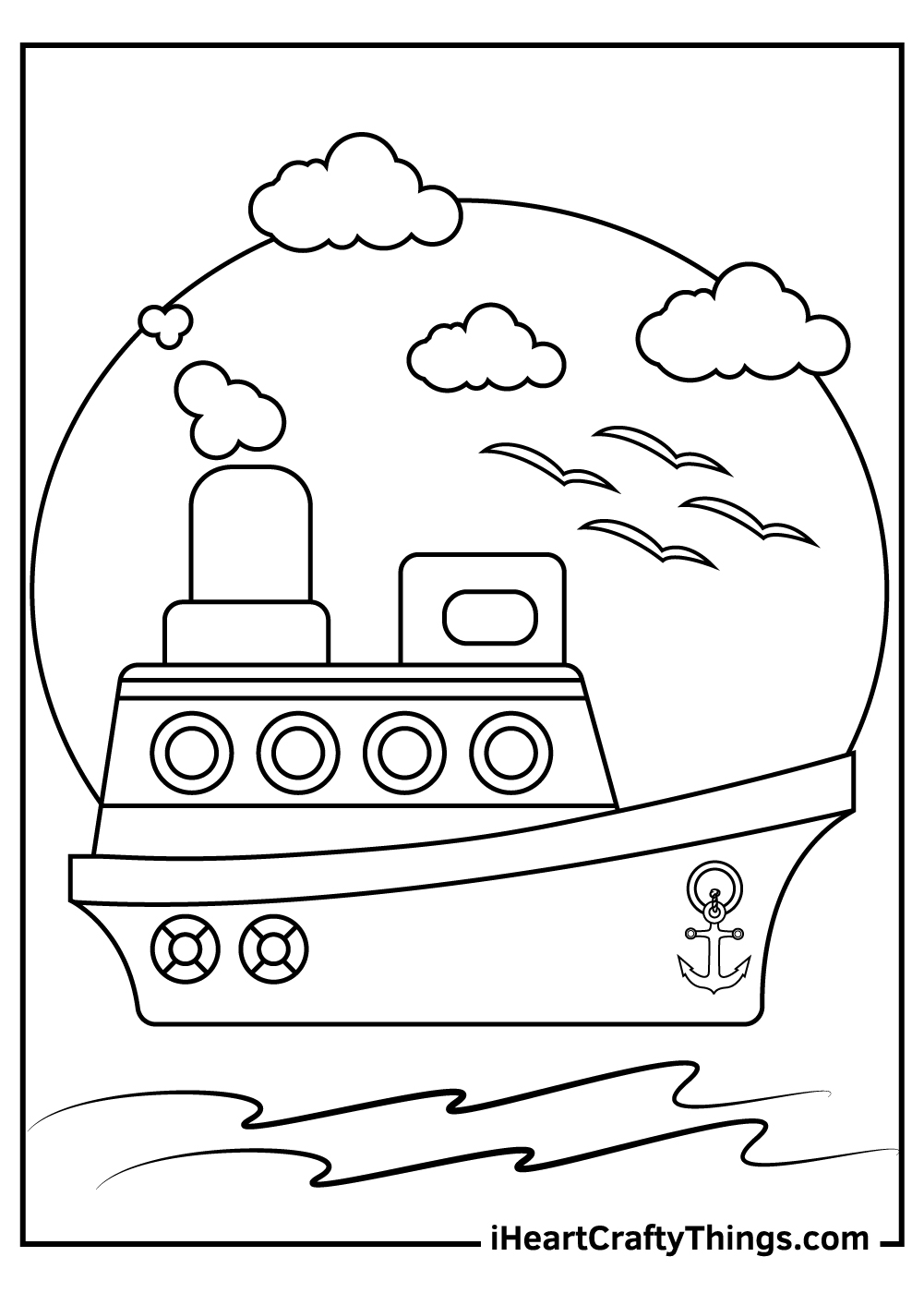 kids boats coloring pages free printables