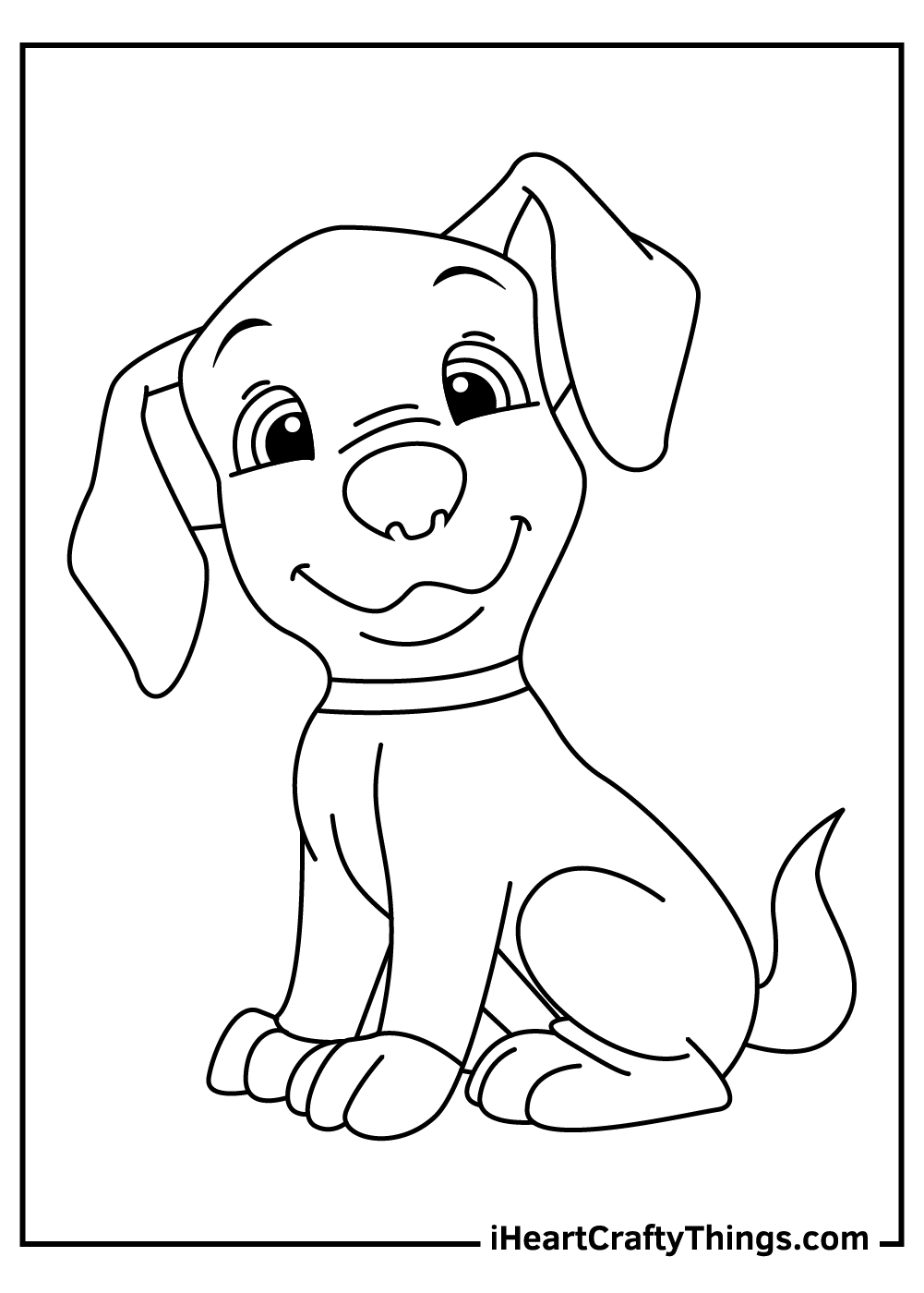 simple puppy coloring pages free printable