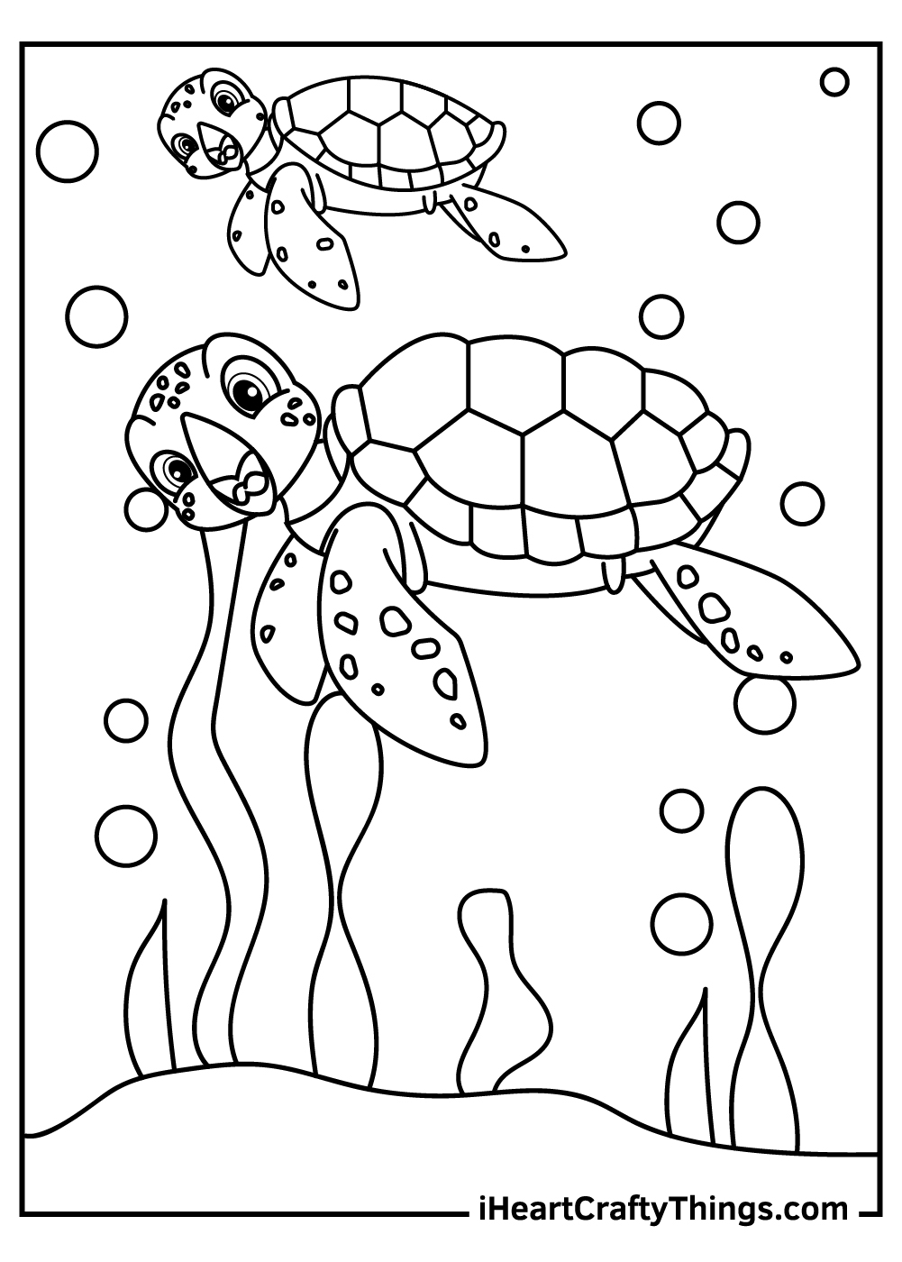 simple turtles coloring pages free printables