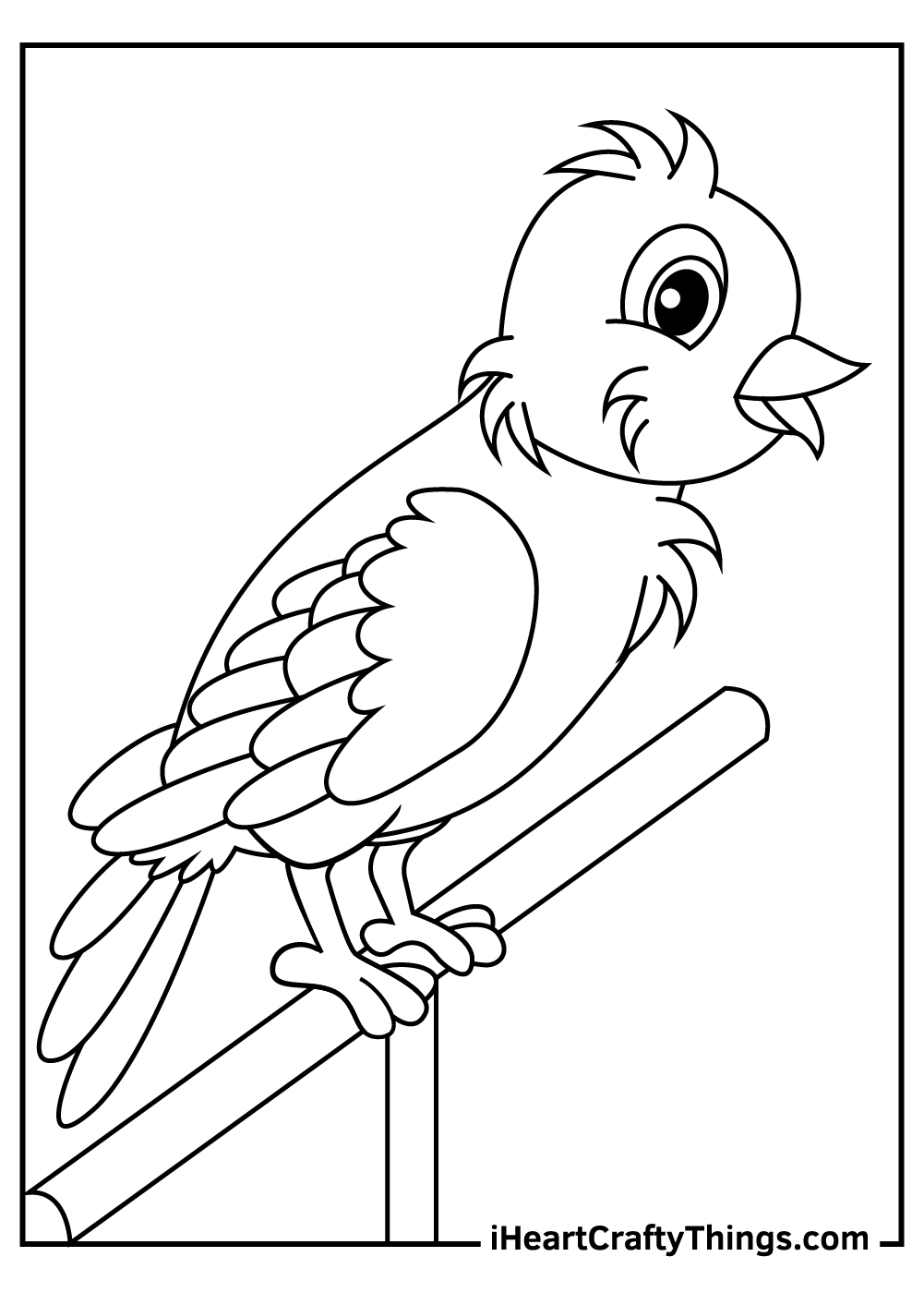 simple parrot coloring pages free printable