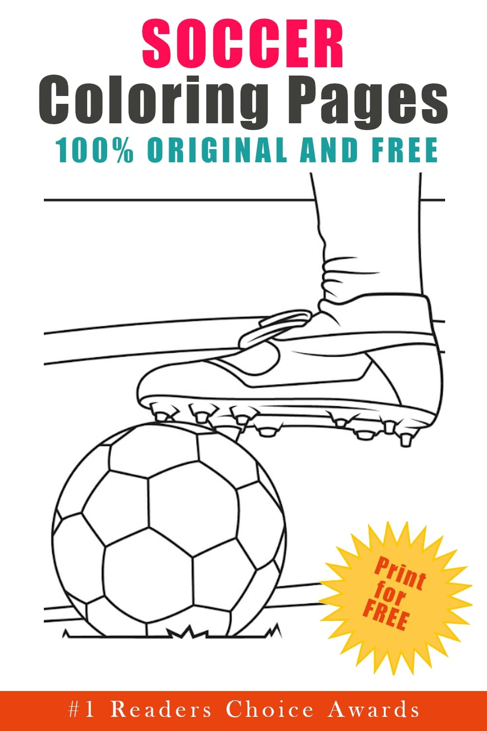 original and free soccer coloring pages