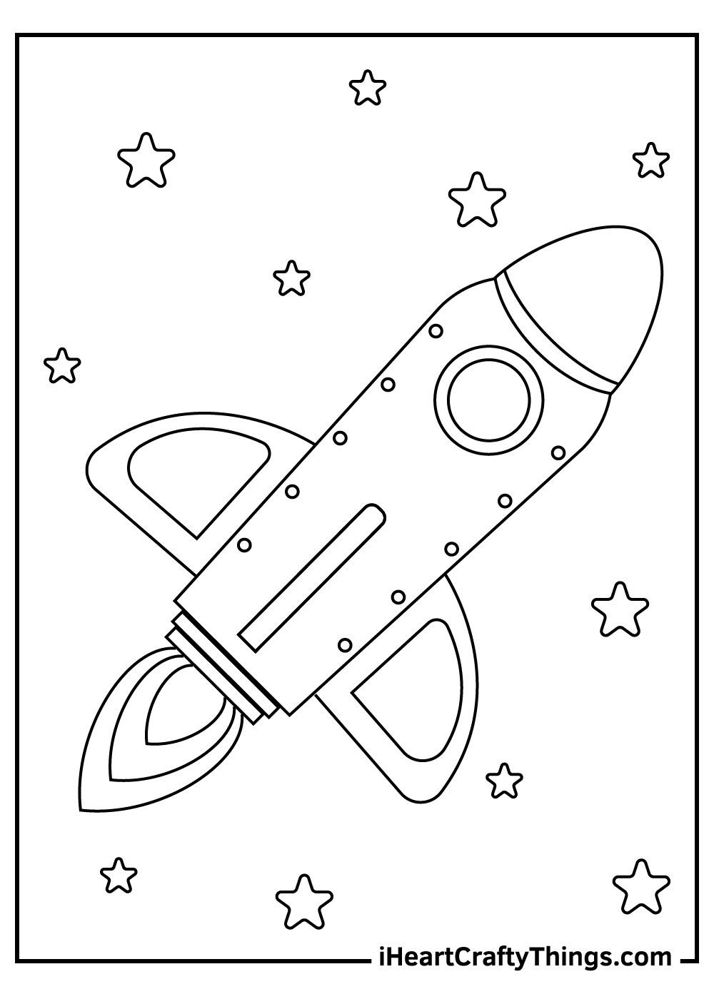 free astronaut spaceship coloring pages