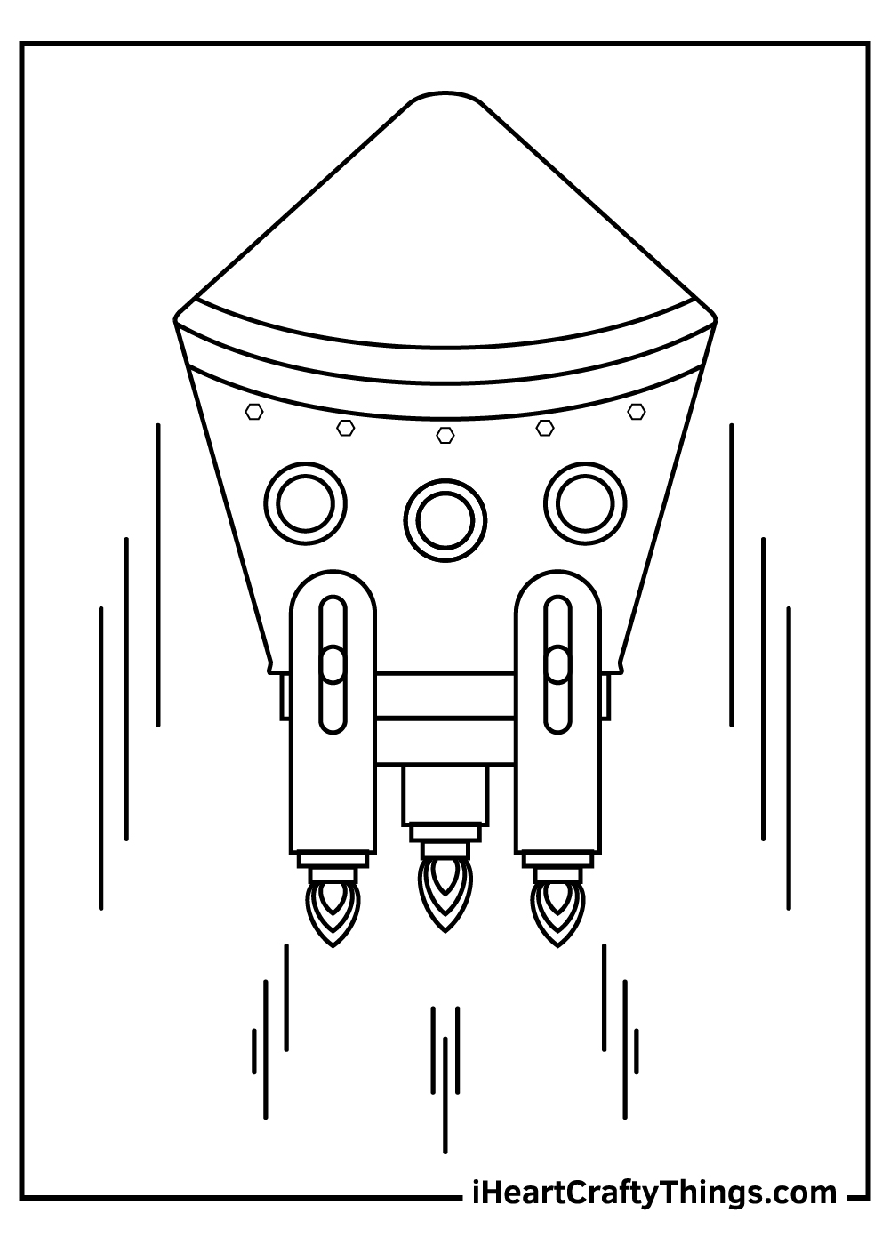 funny spaceship coloring pages for kids