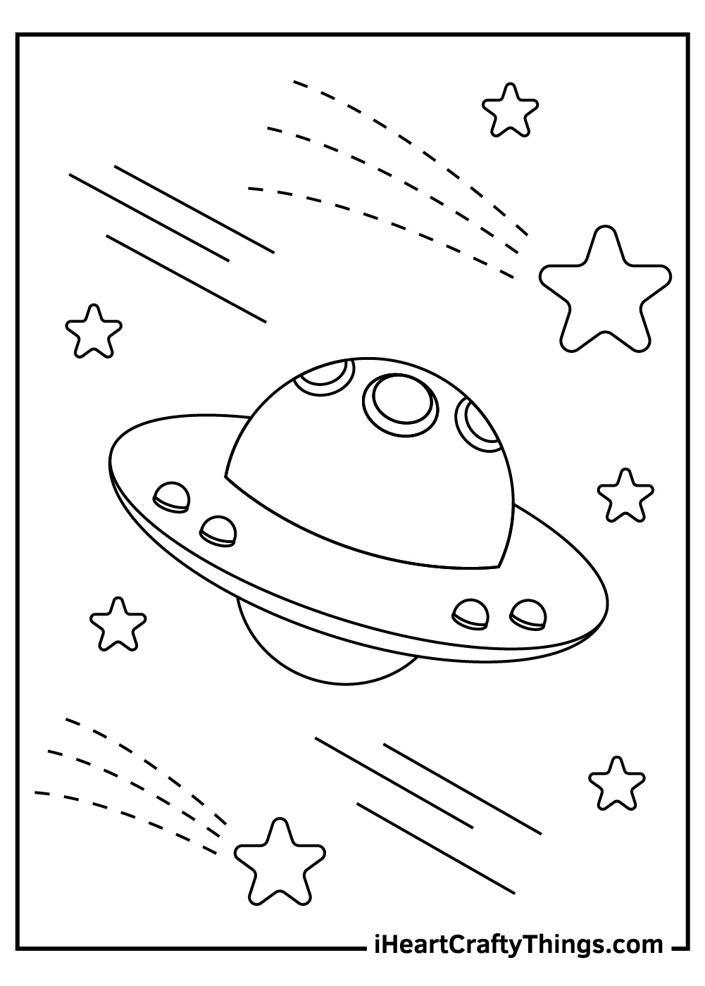 free printable alien spaceship coloring pages
