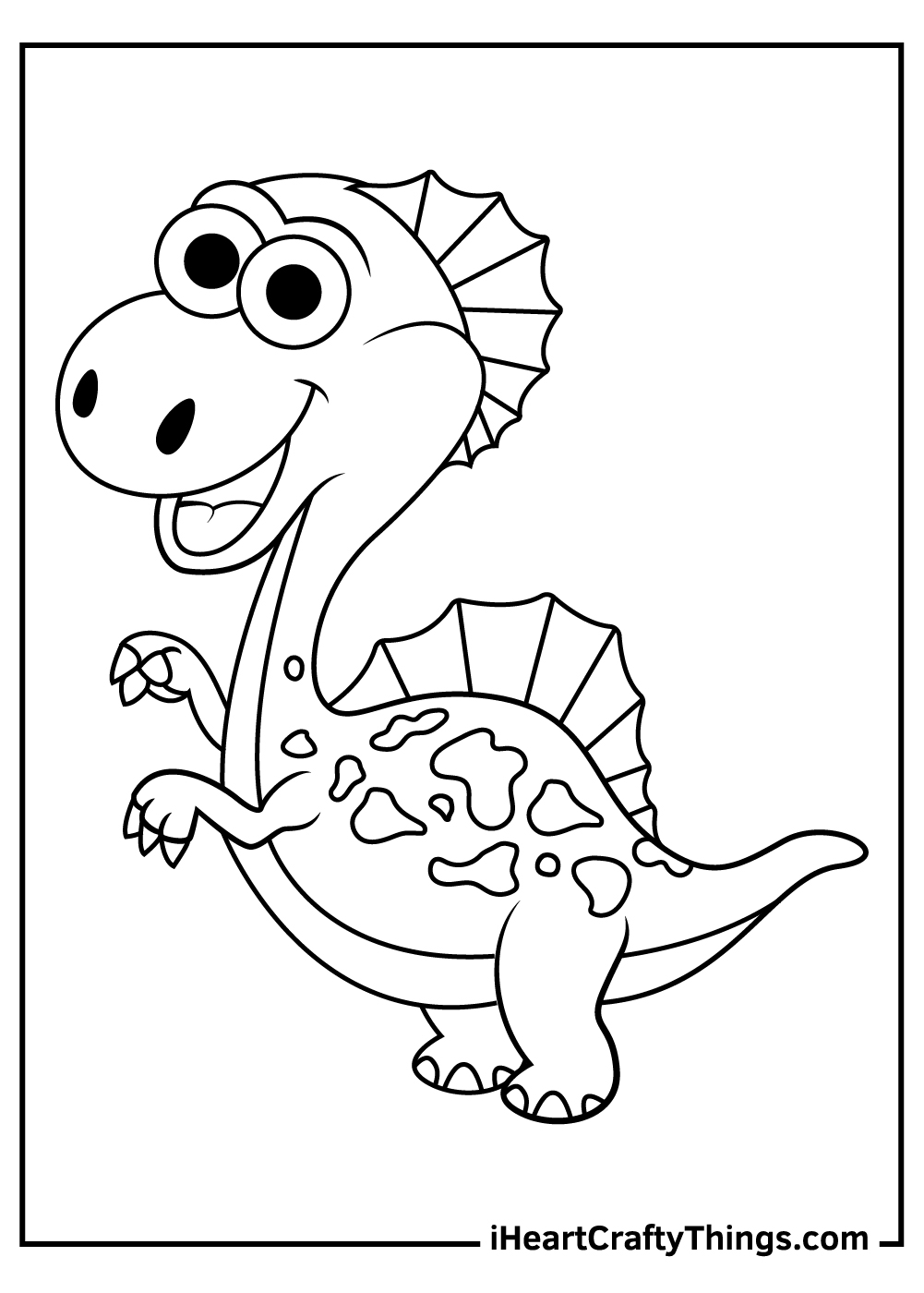 spinosaurus coloring pages cute picture
