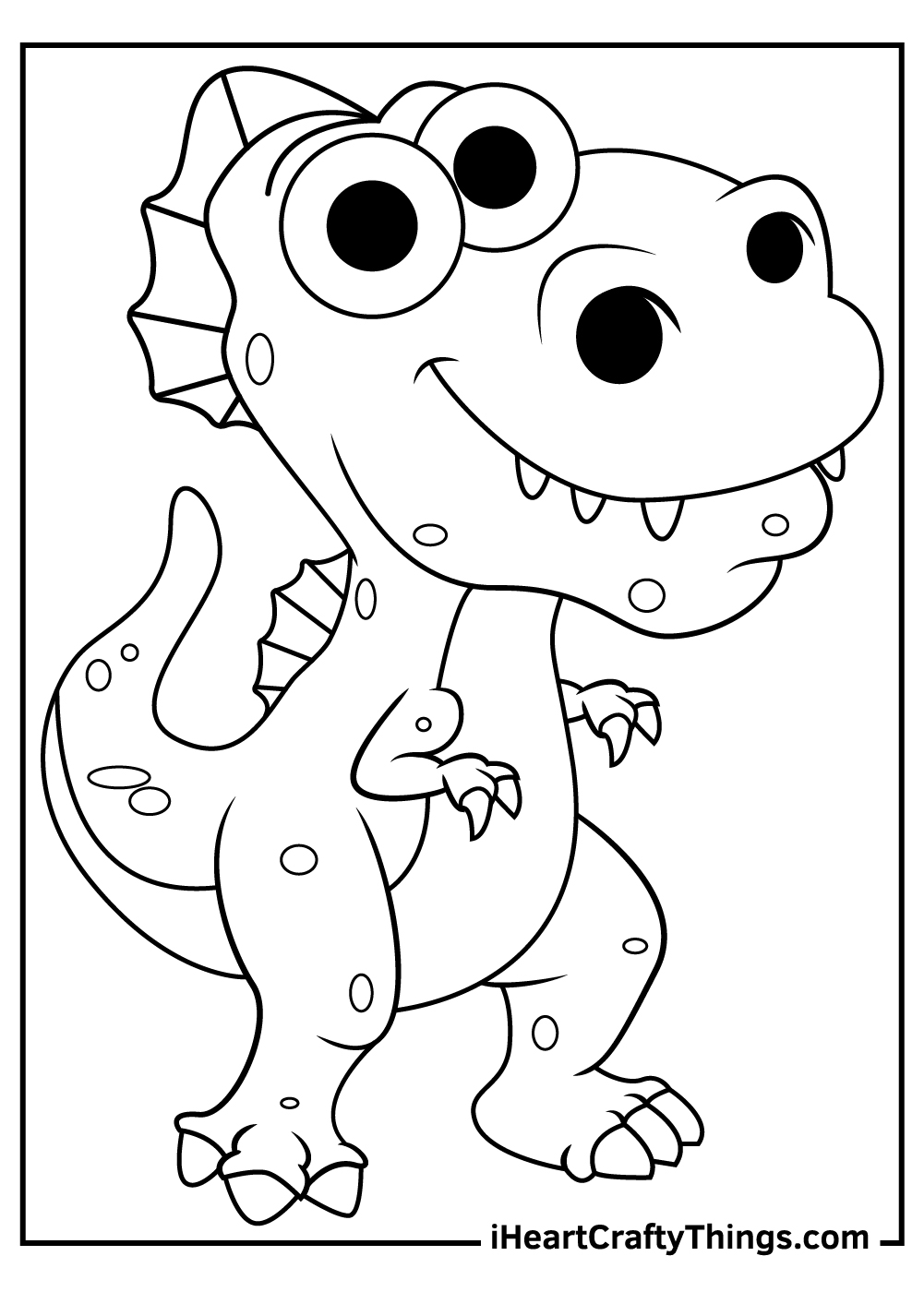 detailed baby spinosaurus coloring pages