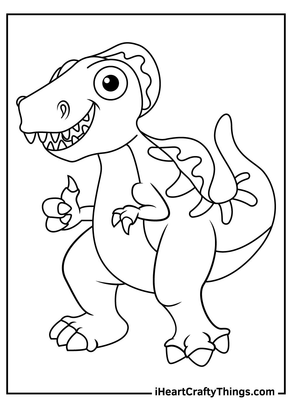 dinosaur spinosaurus coloring pages free pdf