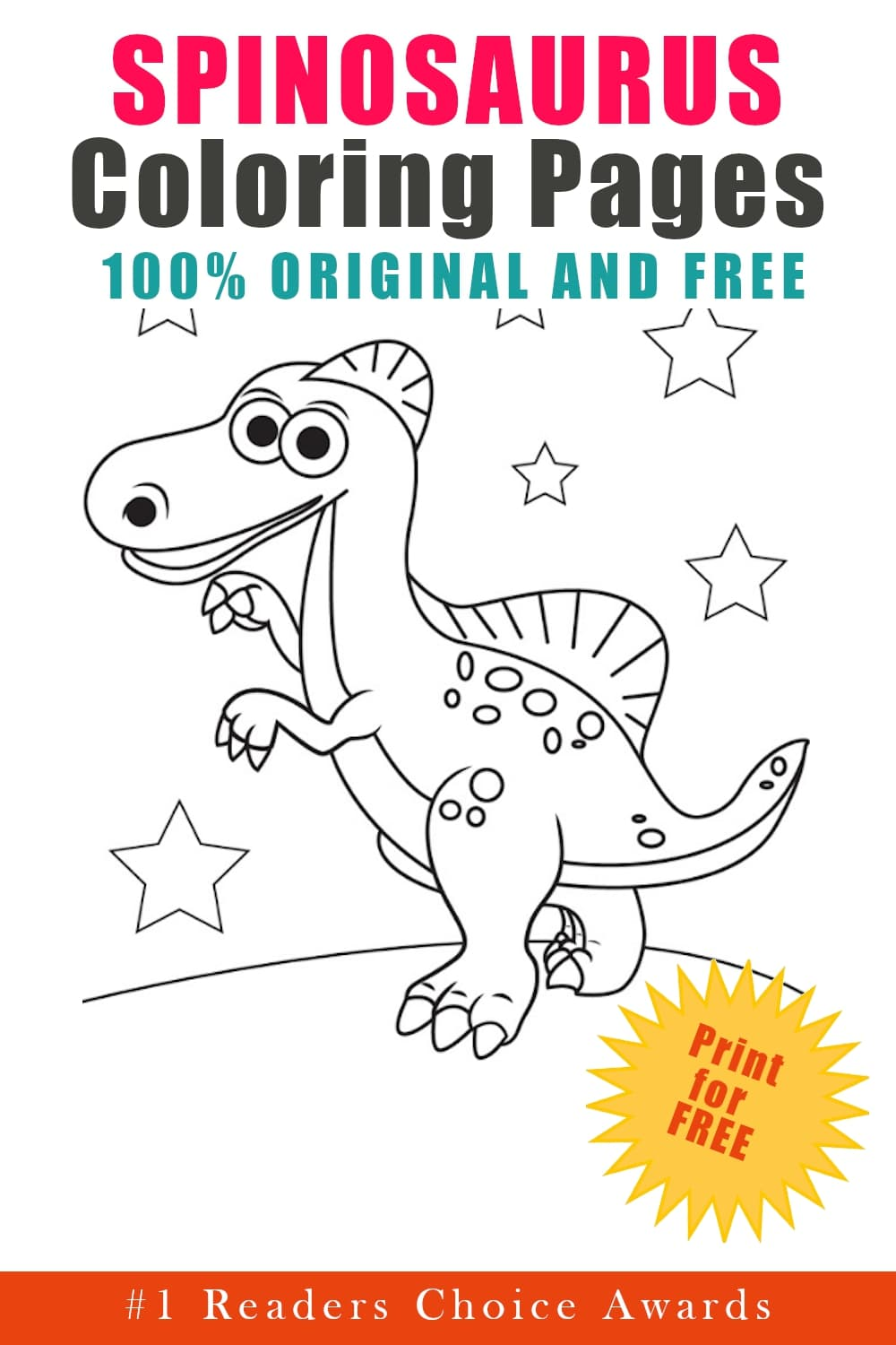 original and free spinosaurus coloring pages