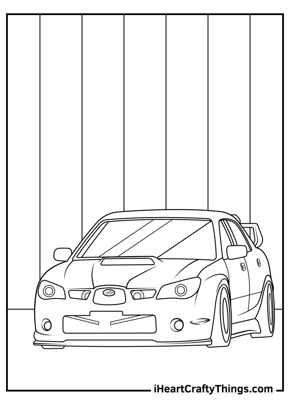sports car coloring pages for kids