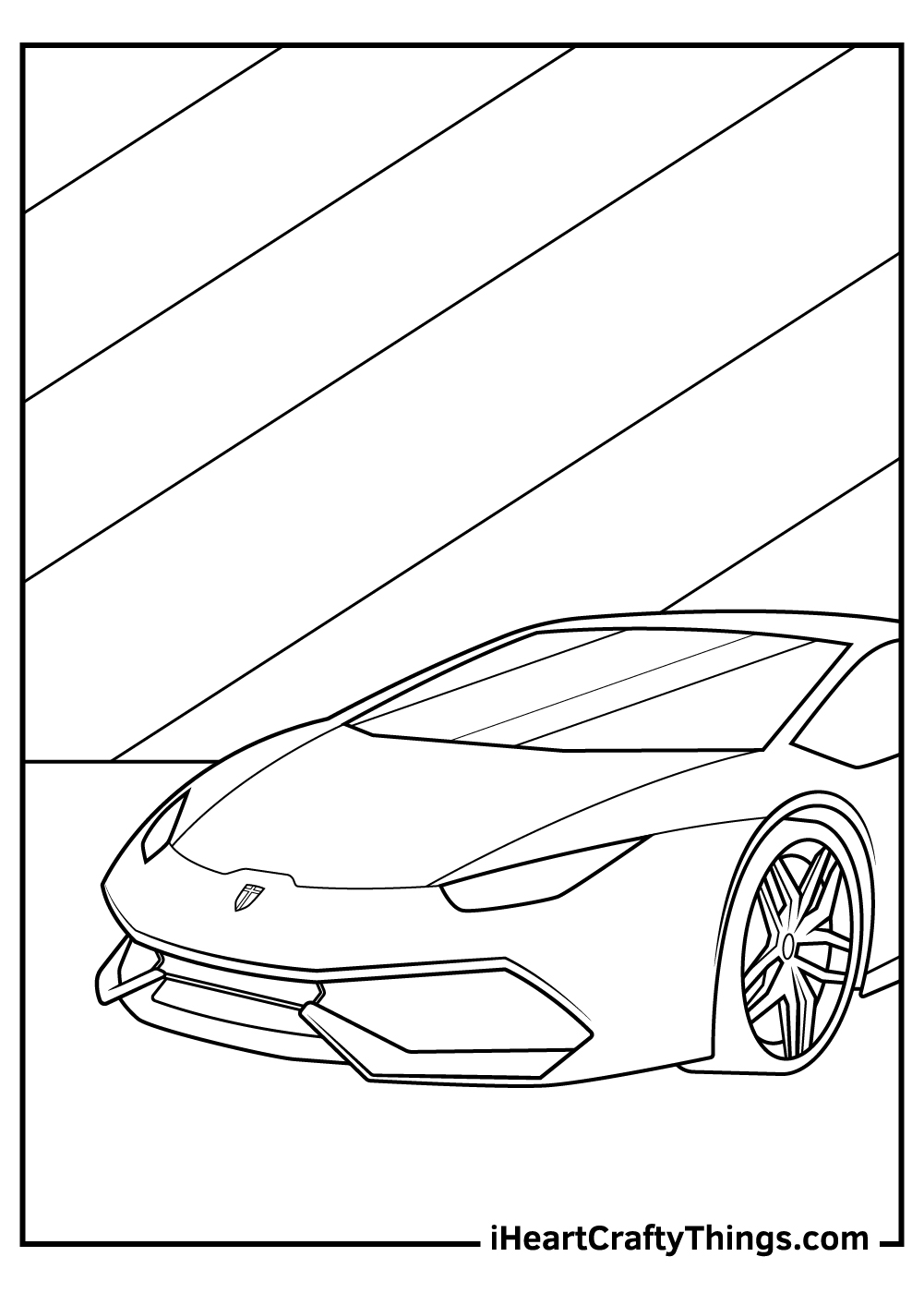 simple sports car coloring pages