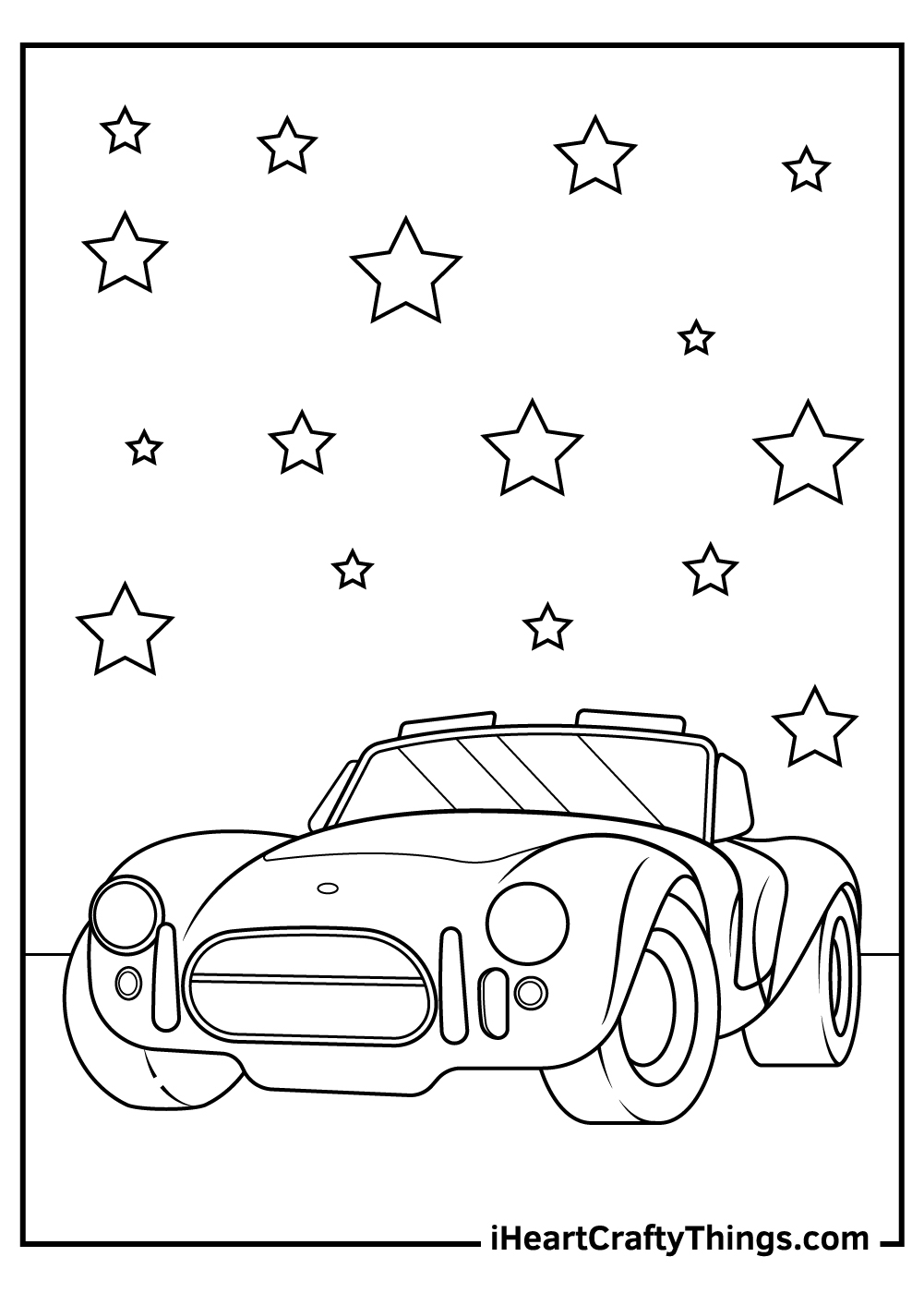 printable sports car coloring pages