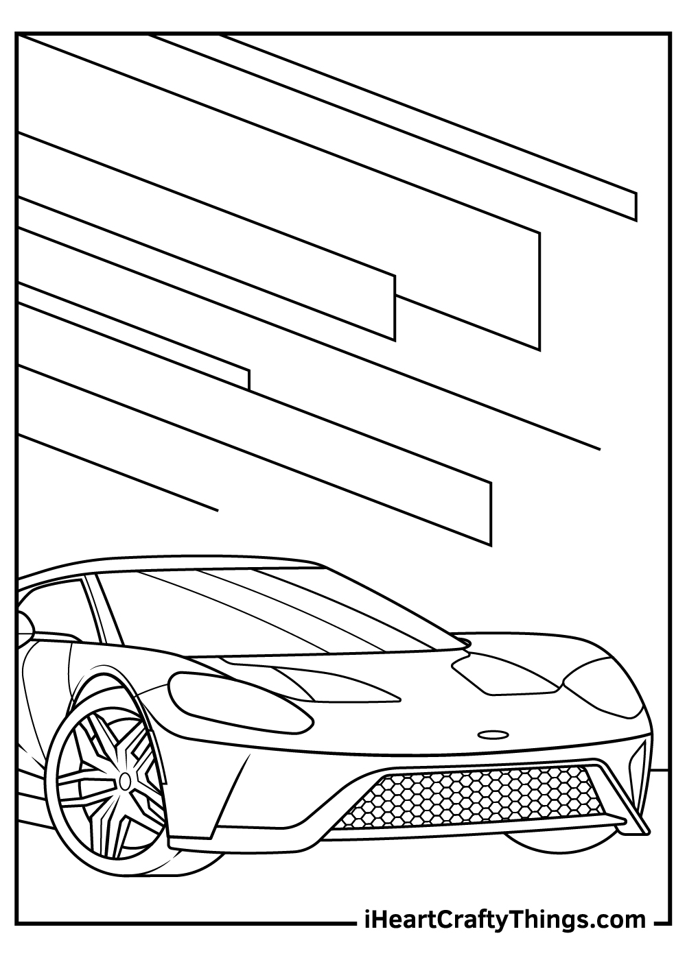 challenging sports car coloring pages