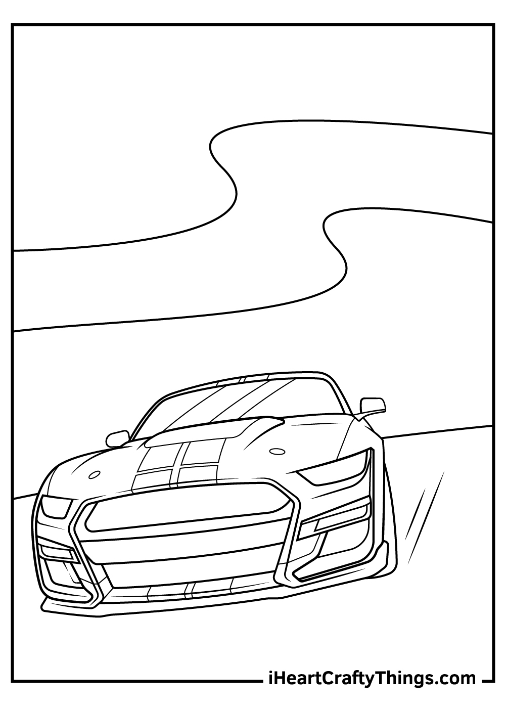 full page sports car coloring pages free download