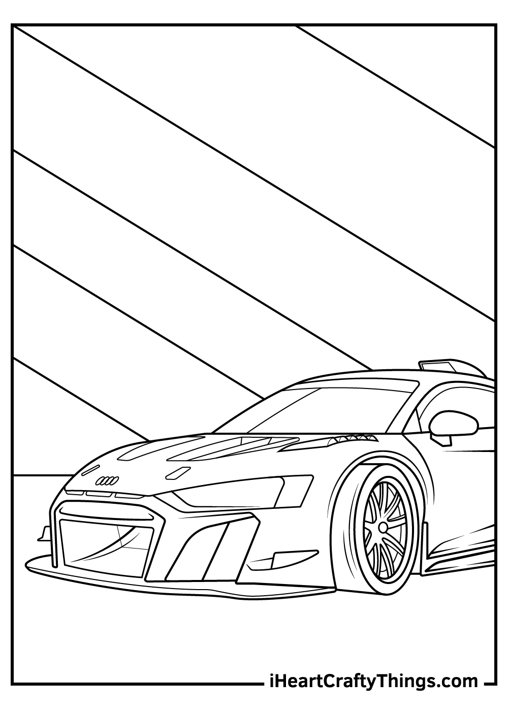maserati sports car coloring pages