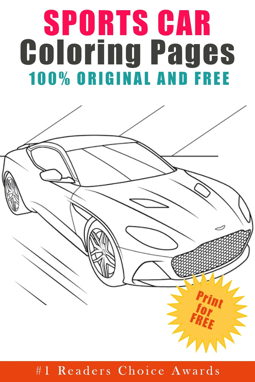 original and free sports car coloring pages