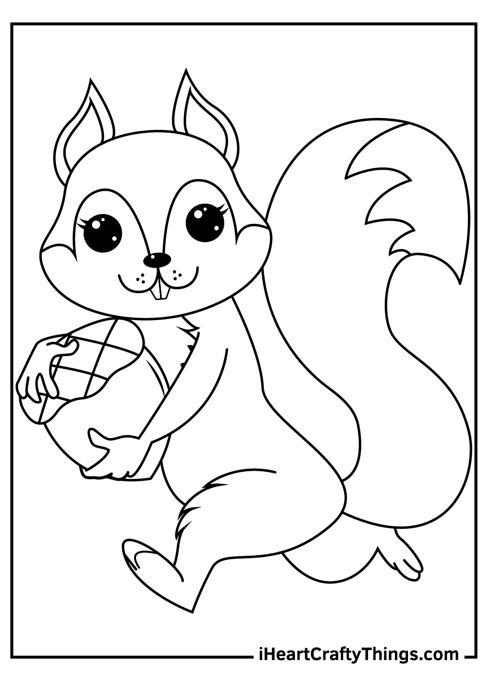 realistic free printable squirrels coloring pages