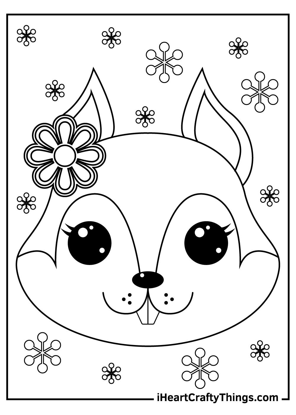 chipmunk squirrels coloring pages free printables