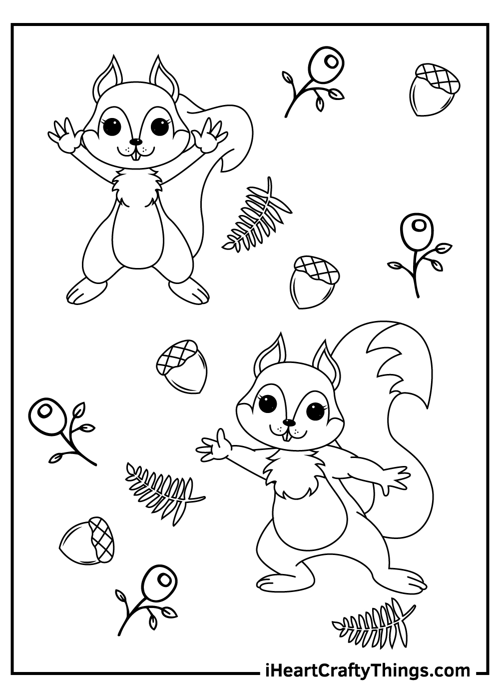Chip 'n' Dale Disney squirrels coloring pages