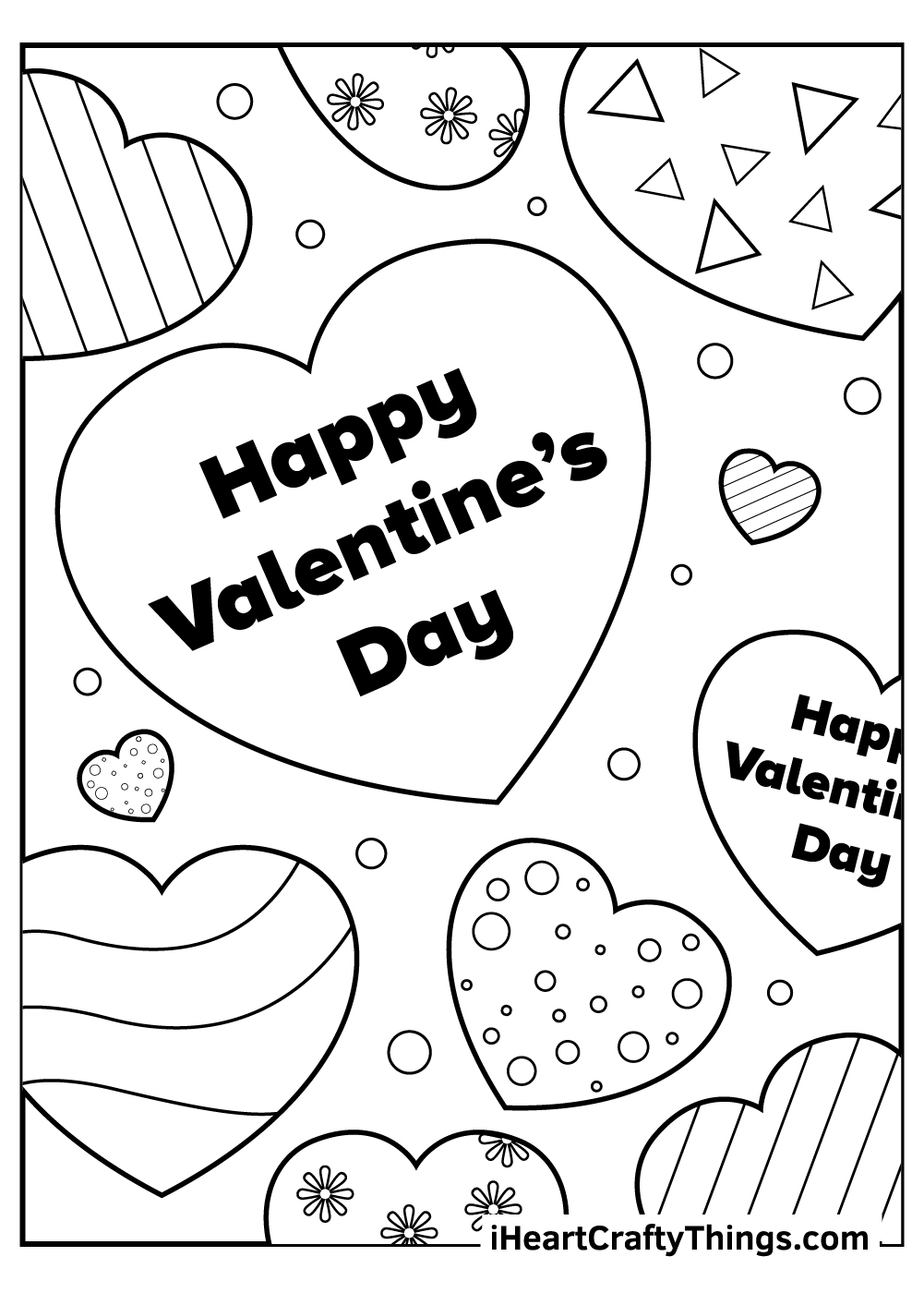 happy valentine's day coloring pages free printable