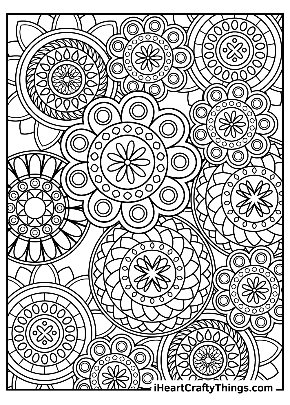 valentine's day mandala coloring pages free download