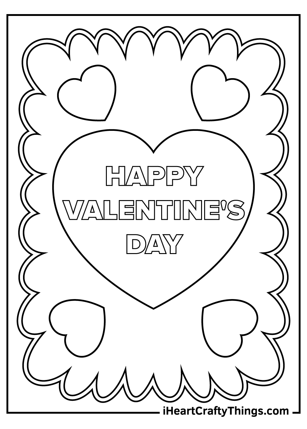 free valentine's coloring pages