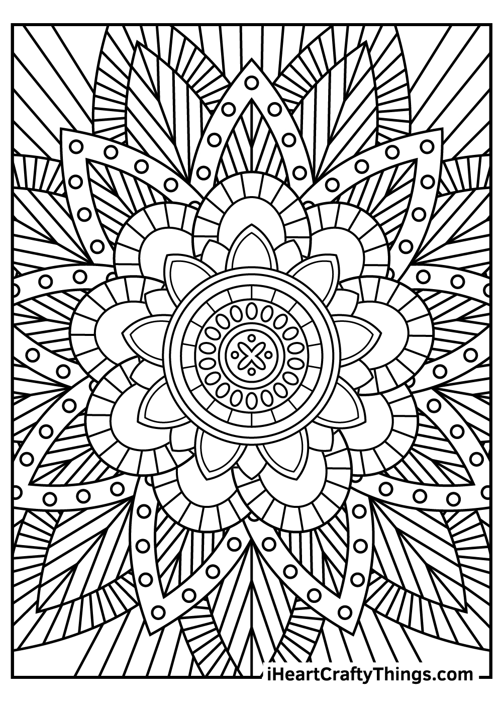 easy stress relief coloring pages free printable