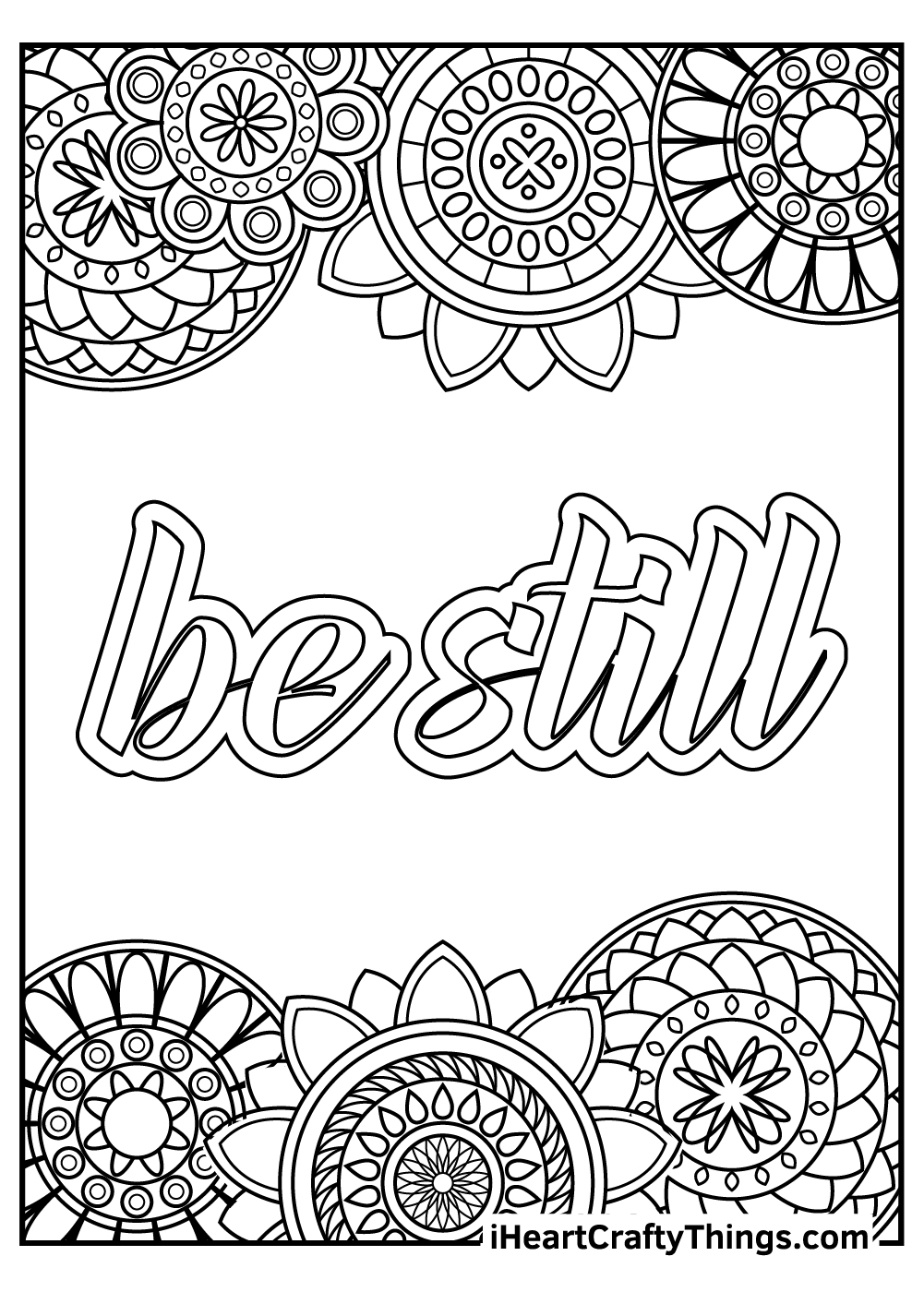 simple stress relief coloring pages free printable