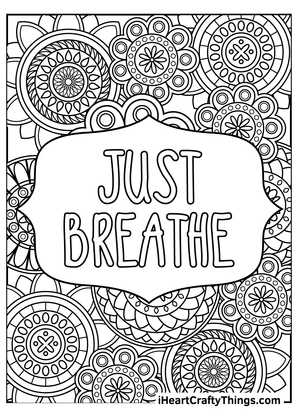 just breathe stress relief coloring pages free download