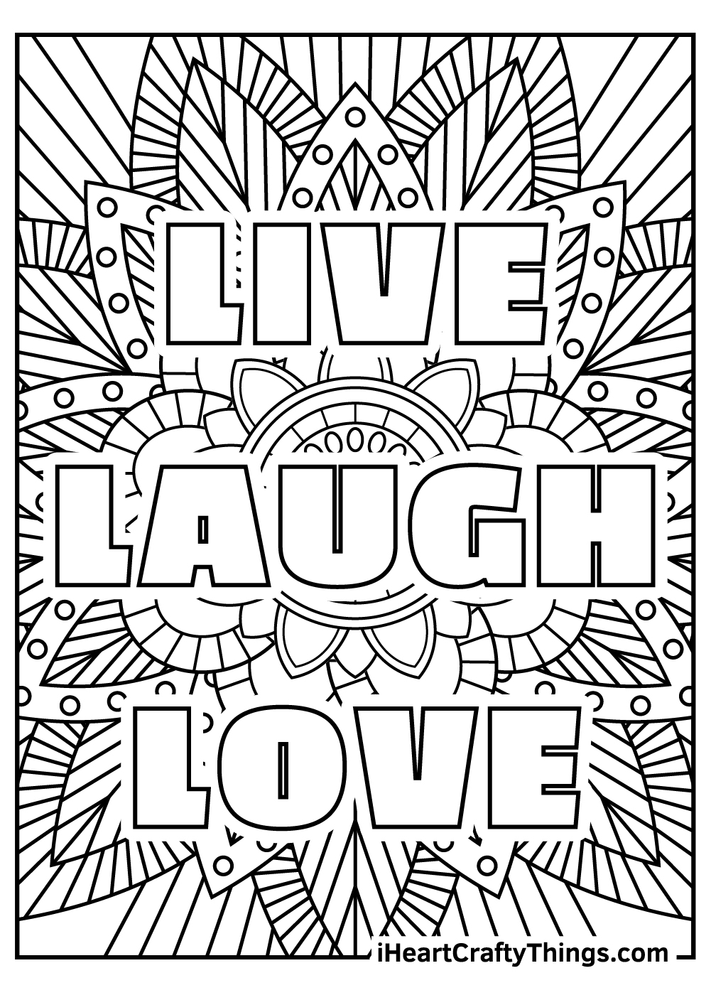 live laugh love stress relief coloring pages free printable