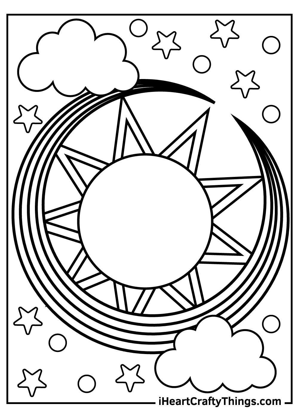 ancient sun and moon coloring pages for adults