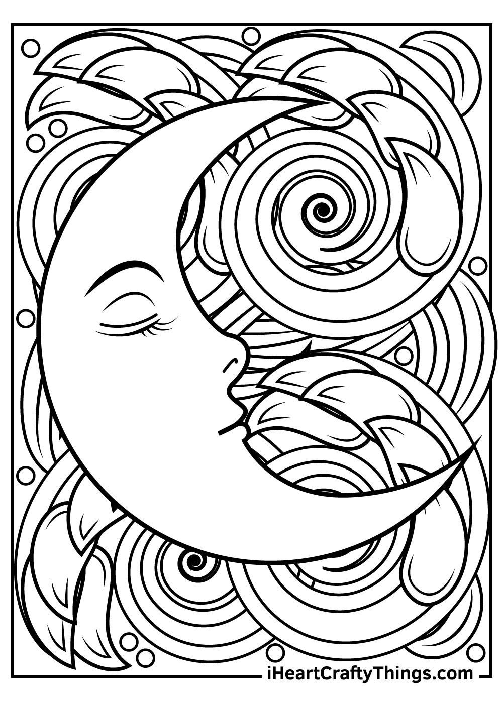 cartoon sun and moon coloring pages free printable