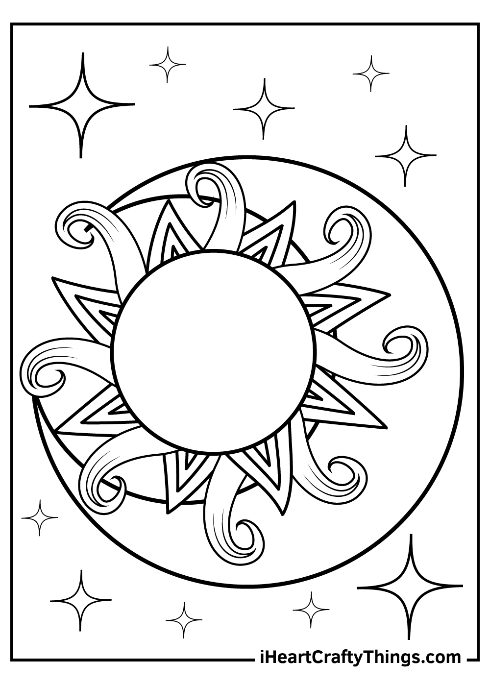 sun and moon coloring pages for kids