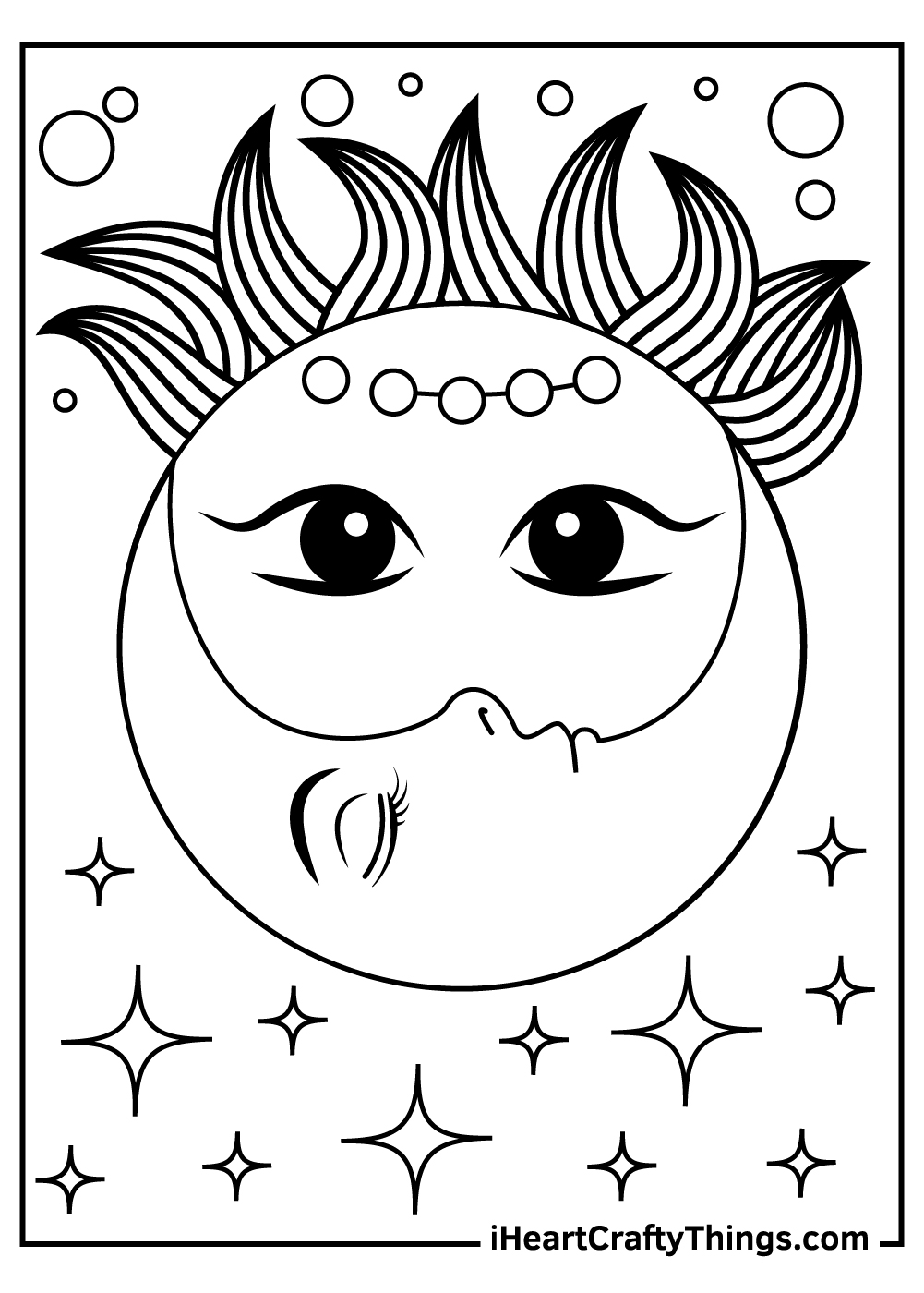 printable sun and moon coloring pages for kids