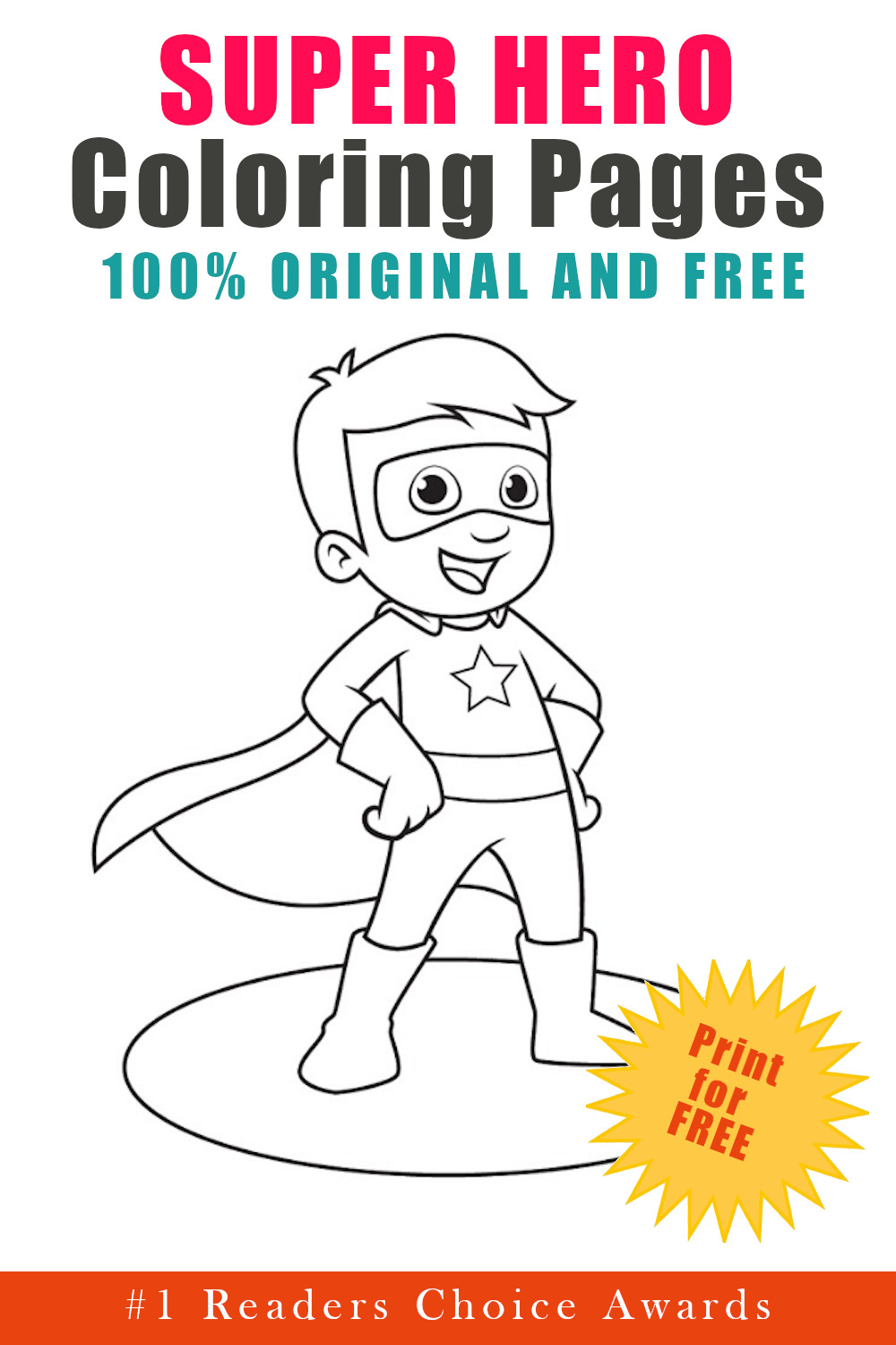 original and free super hero coloring pages
