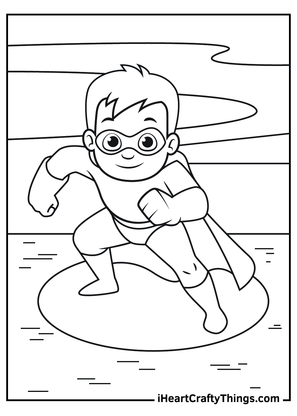superhero coloring pages free printables