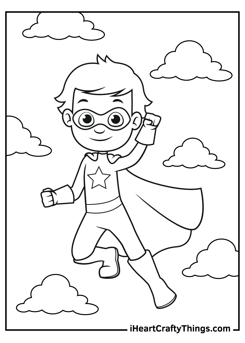 cute superhero coloring pages free printables