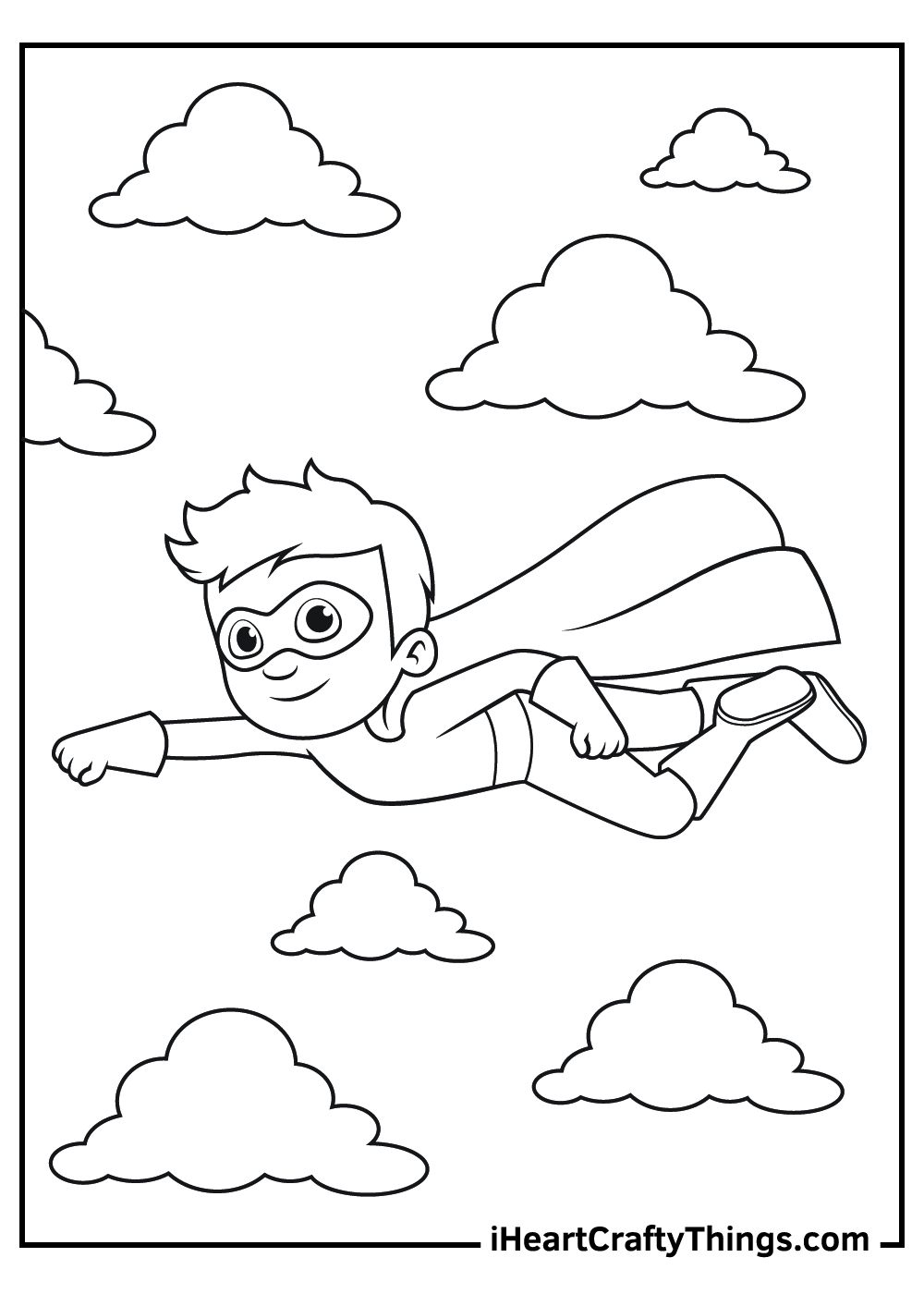 cute super boy coloring pages free download