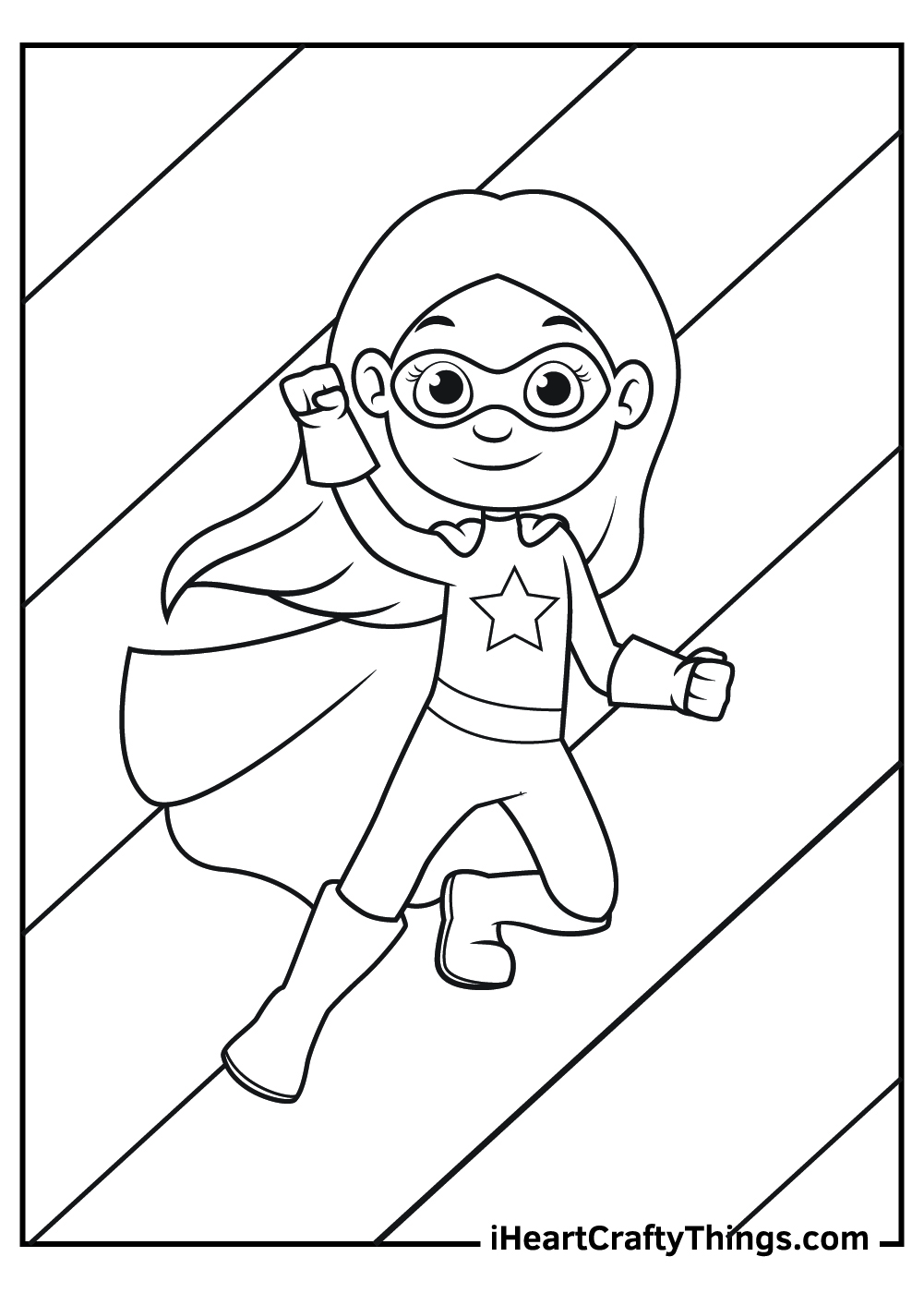 black and white super girl coloring pages free download