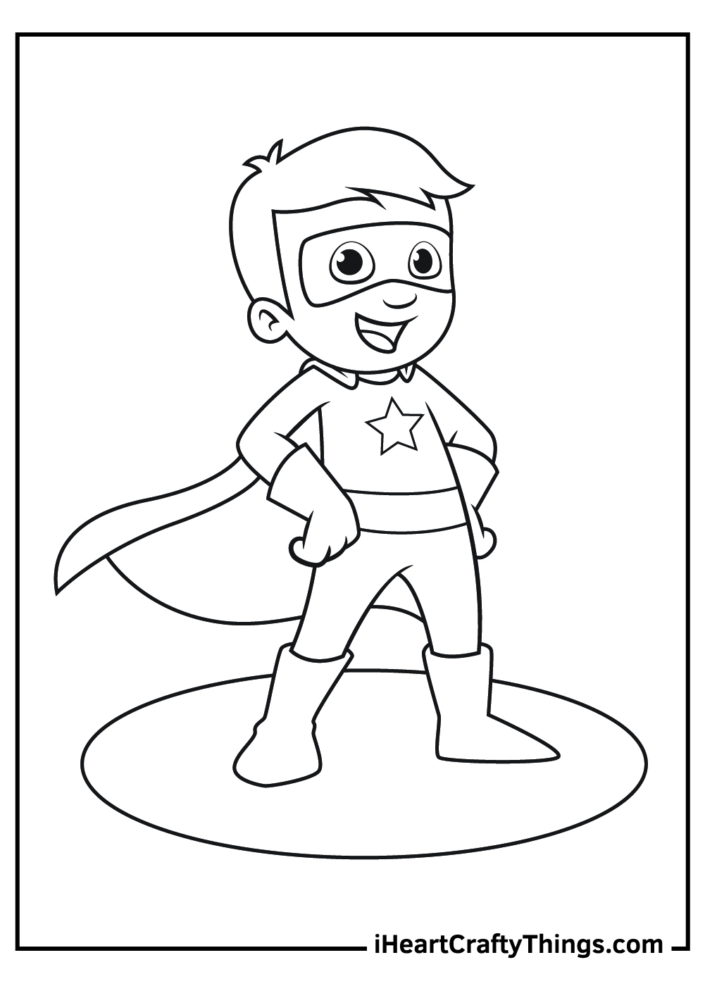 super kid coloring pages free printable pdf