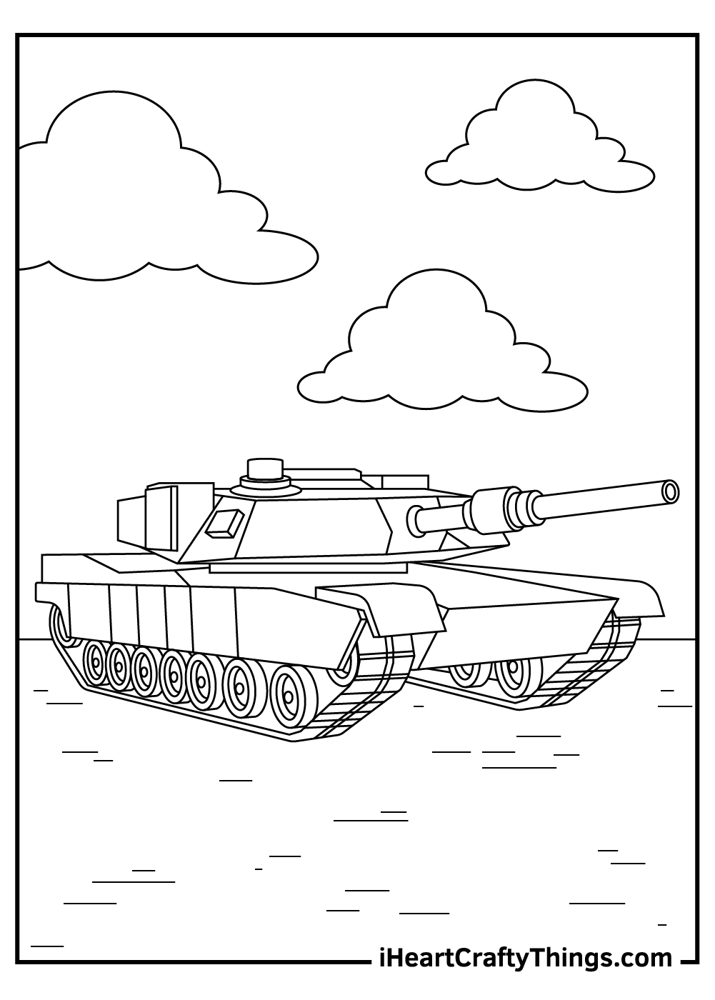 adult tanks coloring pages to print