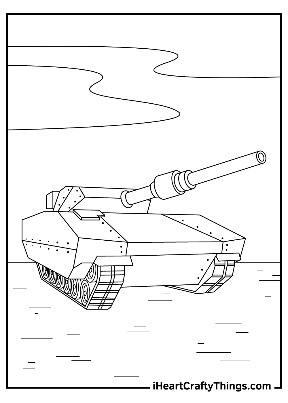 WWII tanks coloring pages free download
